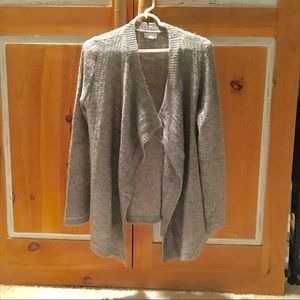 Maternity Pea in the pod grey/silver open sweater